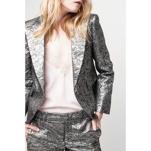 Zadig & Voltaire Vistar metallic brocade blazer